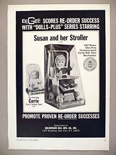 Susan & Her Stroller & Carrie Baby Doll PRINT AD - 1967 ~Goldberger Dolls ~EeGee