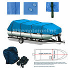 Heavy duty Trailerable Canvas Pontoon boat storage cover Fits 26' -27'L