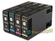 4 T701 non-OEM Ink Cartridges For Epson WorkForce Pro WP-4545DTWF WP-4595DNF