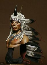 SK Miniatures Sun Bear Indian Warrior 1/9th UNPAINTED resin bust CARL REID