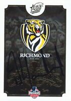 ✺Signed✺ 2017 RICHMOND TIGERS AFL Premiers Card DAMIEN HARDWICK