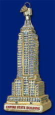 EMPIRE STATE BUILDING Glass Ornament Old World NEW IN GIFT BOX New York New York