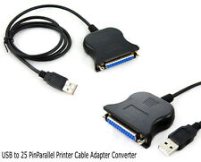 USB to 25 Pin Parallel Printer Cable Adapter Converter plug and play old printer
