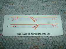 Ertl  decals 1/24 1/25 '63 Ford Galaxie 500  DD