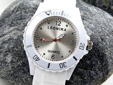 Neu+weiß+Siliconuhr+Damenuhr+Herrenuhr+unisex+Silicon+Uhr+Armbanduhr+Watch+