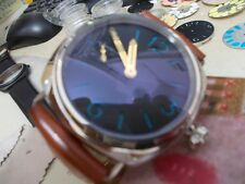 Panhom 45mm Polished Blue Gold Hand Handwind 6497 Parnis Watch marina radiomir