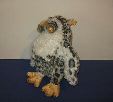 "New 2000 Animal Alley Snowy Spotted Owl Google Eyes 13"" Plush Hand Puppet"