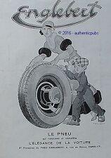 PUBLICITE ENGLEBERT PNEU L'ELEGANCE DE LA VOITURE SIGNE RENE VINCENT DE 1932 AD