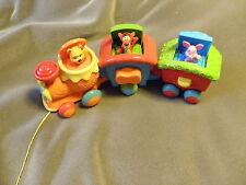 Mattel Winnie the Pooh Pull Along Pop Up Train Musical Sounds EUC RARE