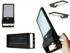 Faro 42 Led Con Pannello Solare E Sensore Di Movimento Faretto Crepuscolare 20W