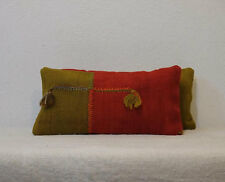 8'' x 16'' Set Pillows,Pair Pillows,Small Pair Lumbar Covers,Red Green Pillows