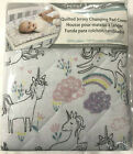 Trend Lab Quilted Jersey Changing Pad Cover unicorns rainbows baby girls nursery