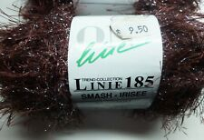 ONline Linie 185 Smash-Irisee knitting yarn - 50g balls - reddish brown clear