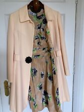 Moschino Dress Suit Special Occasion Size 10 Silk Dress With Wool Blend Coat