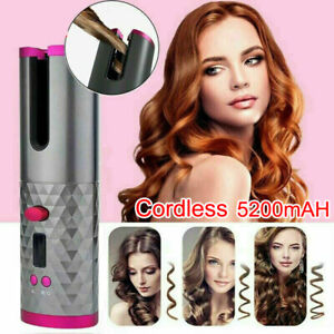 Auto Rotating Hair Curler Cordless Hair Waver Curling Iron Portable Hairstyling