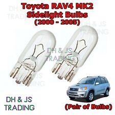 Fits Toyota RAV4 MK2 1.8 VVT-i White 12-SMD LED COB 12v Number Plate Light Bulbs