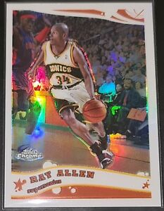 Ray Allen 2005-06 Topps Chrome REFRACTOR PARALLEL Insert Card (no.783/999)