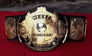WWF WINGED EAGLE WRESTLING CHAMPION BELT 4MM ZINC & 24K GOLD PLATED BELT