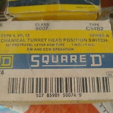 Square D Class 9007 Type C54B2 Turret Head Position Switch 10 Degrees Pretravel