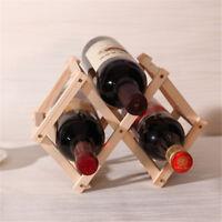 Red Wine Wooden Rack Bottle Mount Holder Kitchen Exhibition Organizer HF