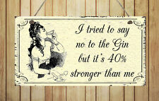 Gin - Shabby Plaque Hanging Fun Sign New Home Friend Gift Chic