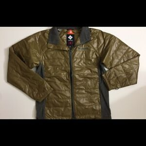 Mens Columbia J-Line Insulated Packable Jacket Brown Japan Exclusive Sz M $180