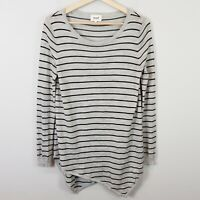 [ SEED HERITAGE ] Womens Asymmetrical Merino Wool Sweater Top | Size S or AU 10