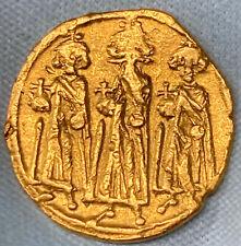610-642 AD Byzantine Heraclius Heraclonas+Heraclius Constantine AV Solidus MS