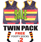 NEW 2 x Kids Adults Adelaide Football Jumper Jersey + FREE Crows Footy Socks x2
