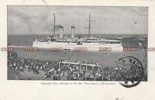"""Royal Netherlands Navy Postcard. HNLMS """"Gelderland"""" Paul Kruger. S. Africa 1901"""
