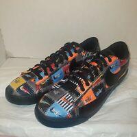 New Nike Blazer Low PRM Patchwork Pack Shoe Black Multi-Color CI9888-001 Size 10