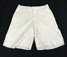 Banana Republic Womens Size 4 Casual Shorts White Linen Blend Martin Fit  AW
