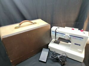 White 1855 Mechanical Sewing Machine With Foot Pedal + Accessories ,Works