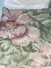 Martex Queen Bed Skirt Dust Ruffle 14� Drop Muted Floral Usa Made