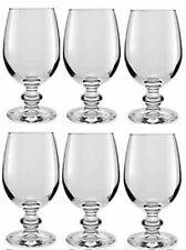 Libbey Essenza Set Of 6 Clear Gl Wine Goblets 240ml Whiskey Brandy