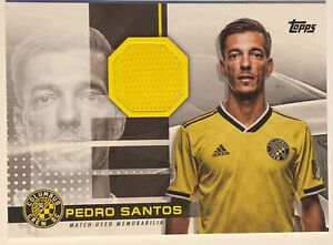 2020 PEDRO SANTOS TOPPS MLS Jumbo Relic /319 #JR-PS Columbus Crew