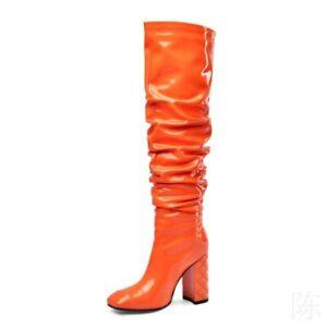 Women's Knee High Boots High Block Heels Nightclub Pull On Cosplay Pole sexy