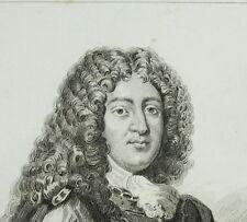 Antigua cuadro Luis de Bourbon condado de Vermandois Príncipe almirante