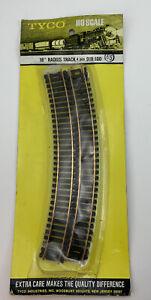 "NEW Vintage Tyco Train Track HO Scale 18"" Slight Radius Track 918:100"