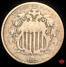 1867 United-States 5 Cents - Good - Lot#W77