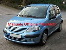 Citroen C3 MK1 prima serie 1° (2002/2010) Manuale OFFICINA ITALIANO Pluriel