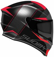NEW CASCO INTEGRALE SUOMY SPEEDSTAR SPORT TOURING TRICARBOCO RAP RED