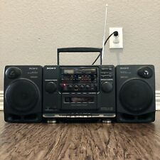 SONY Boombox CFD-510 CD Cassette Tape Radio Detachable Speakers Tested ~ Vintage
