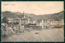 Genova Rapallo Spiaggia cartolina RT0505