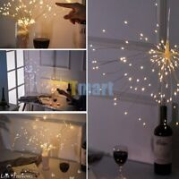 Firework Copper Wire Lights 180 LED Hanging Fairy Strip String Lights Xmas Decor