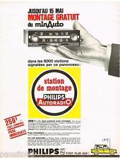 PUBLICITE ADVERTISING 085  1966  PHILIPS  l la station de montage autoradio MINA