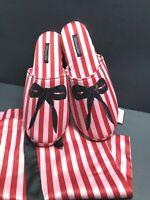 Womens Slippers Size 7-8 VICTORIA SECRET Slip On Clog MEMORY FOAM