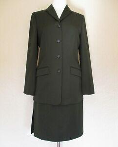 J Crew Skirt Suit Size 6 Women brown wool