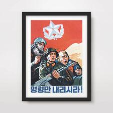 NORTH KOREAN KOREA PROPAGANDA POSTER Art Print Political Military War Army DPRK