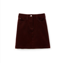 Lacoste Women's Ribbed Stretch Velour A-Line Skirt Size 32/0